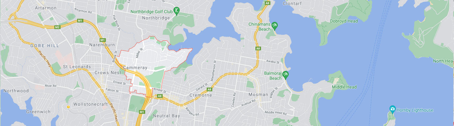 Cammeray Map Area