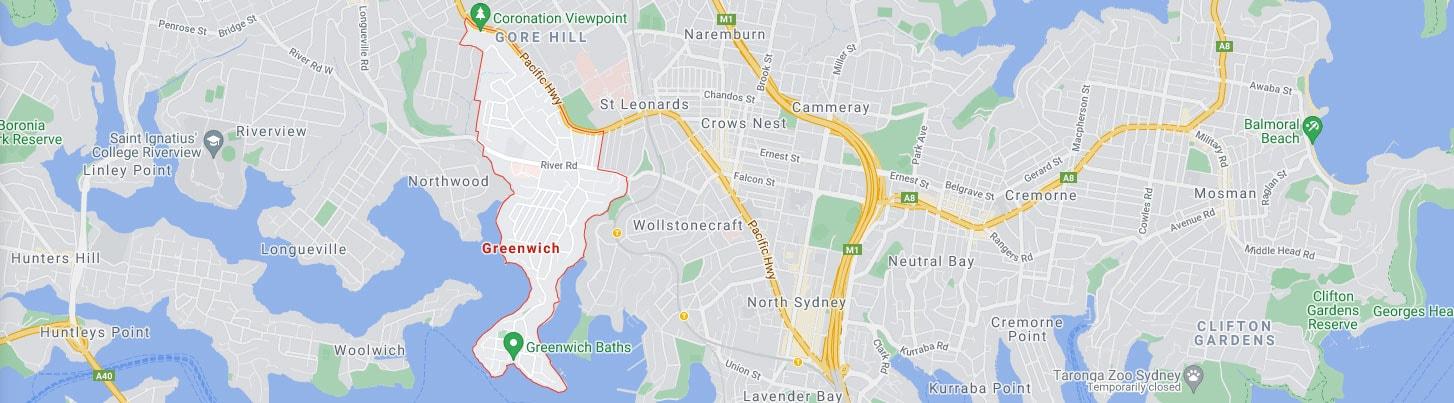 Greenwich Map Area