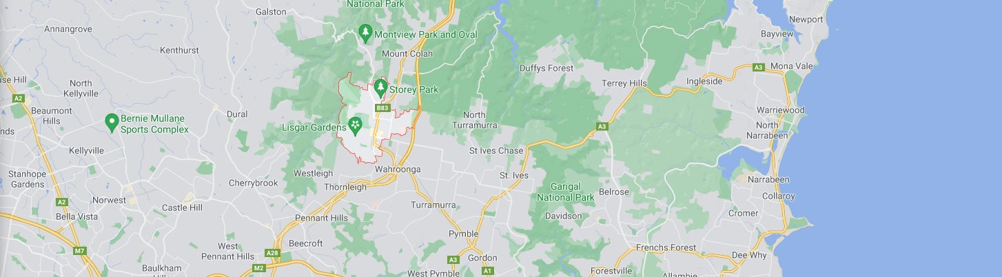 Hornsby Map Area