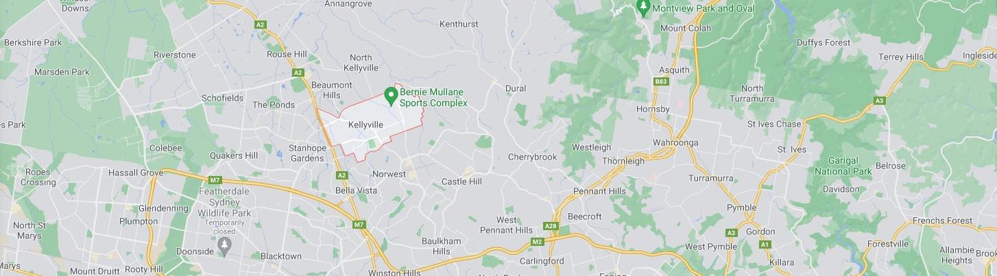 Kellyville Map Area